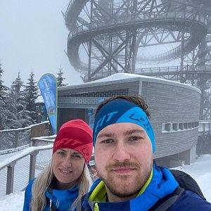 Dominika Turčeková na vrcholu Slamník (10.2.2021 12:00)