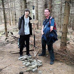 Pavel a Lukáš na vrcholu Magurka (3.8.2019 13:30)