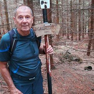MUDr.Svatopluk Kunčar na vrcholu Magurka (17.8.2019 14:25)