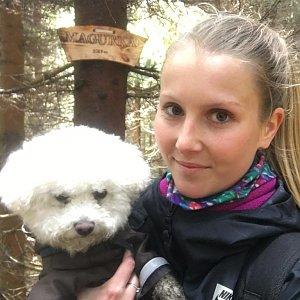 Natálie Cváčková na vrcholu Magurka (18.4.2018 11:40)