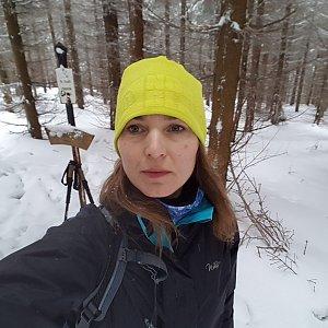 Marcela Kubíčková na vrcholu Magurka (19.1.2020 10:38)