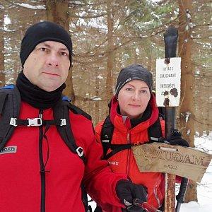 Dana + jirka na vrcholu Magurka (16.2.2020 11:30)