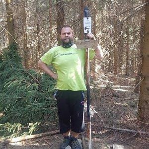 Petr Zajac na vrcholu Magurka (23.4.2020 16:25)