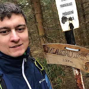 Bronislav na vrcholu Magurka (2.5.2020 10:00)