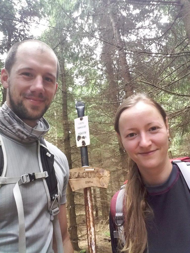 Paja&Tom na vrcholu Magurka (7.7.2018 11:45)