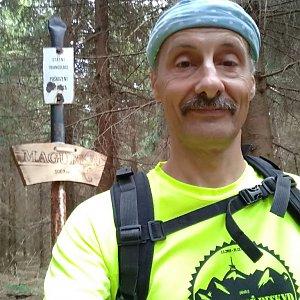 Jiří Sumbal na vrcholu Magurka (18.8.2018 16:20)