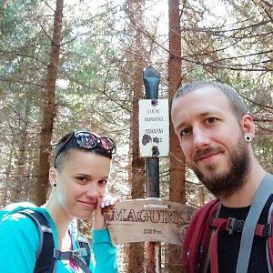 Michaela Hilscherová na vrcholu Magurka (9.9.2018 12:00)