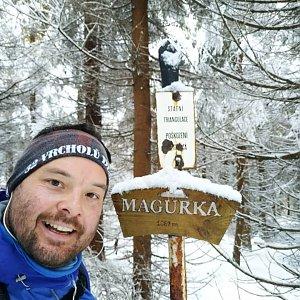 Jakub Špaček na vrcholu Magurka (31.12.2020 12:47)