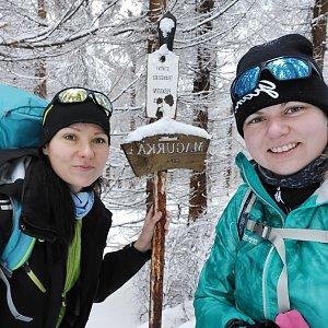 Petra Glogarová na vrcholu Magurka (10.1.2021 10:03)