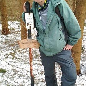 Michal Krčmář na vrcholu Magurka (24.3.2019 16:31)