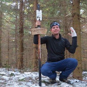 Jan Rendl na vrcholu Magurka (31.3.2019 8:05)