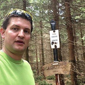 Radim Škrabánek na vrcholu Magurka (1.6.2019 12:34)