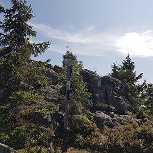 Marcela Kubíčková na vrcholu Oblík (11.8.2021 11:06)