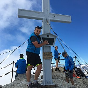 Jarek na vrcholu Kitzsteinhorn (23.7.2019 11:45)
