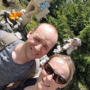 Michaela Karásková na vrcholu Medvědí vrch (28.6.2020 12:56)