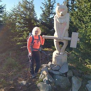 stebrony na vrcholu Medvědí vrch (7.11.2020 12:00)