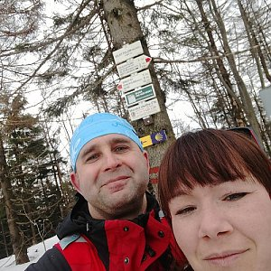 Brůča&Bubu na vrcholu Velký Polom (10.3.2018)