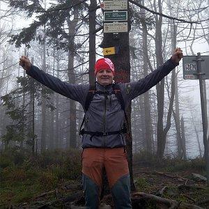 Vítězslav Vrána na vrcholu Velký Polom (5.10.2019 13:09)