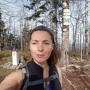 Marcela Kubíčková na vrcholu Velký Polom (19.10.2019 10:44)