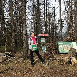 Veronika Pastorková na vrcholu Velký Polom (15.4.2018 12:54)