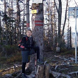 Hanka na vrcholu Velký Polom (24.11.2019 14:00)