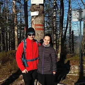 Jiří Tkáč na vrcholu Velký Polom (24.11.2019 11:27)