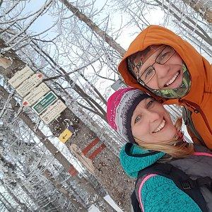 Michaela Karásková na vrcholu Velký Polom (12.1.2020 14:47)