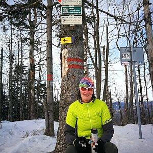 Petra Kosarkova na vrcholu Velký Polom (26.1.2020 14:06)