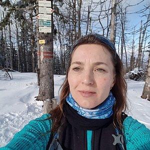 Marcela Kubíčková na vrcholu Velký Polom (15.2.2020 13:19)