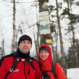 Dana + jirka na vrcholu Velký Polom (22.2.2020 16:11)