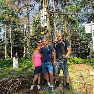 Jan Juchelka na vrcholu Velký Polom (16.6.2018 9:06)