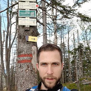 Filip Šimon na vrcholu Velký Polom (17.5.2020 10:00)