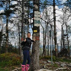 Aneta Gabzdylová na vrcholu Velký Polom (17.5.2020)