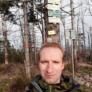 Eduard Ham na vrcholu Velký Polom (21.10.2020 9:00)