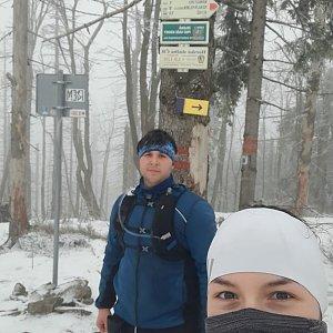 Markéta Čeníková na vrcholu Velký Polom (27.2.2021 12:20)