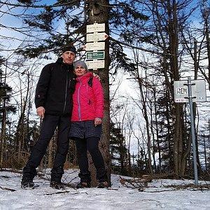 I+L Rajnochovi na vrcholu Velký Polom (9.3.2019 9:26)