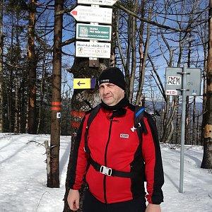 Jiří P na vrcholu Velký Polom (17.3.2019 10:01)