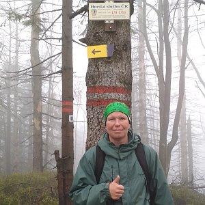 Michal Krčmář na vrcholu Velký Polom (28.4.2019 14:44)