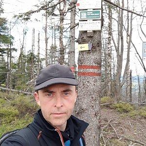 Pavel Skřičík na vrcholu Velký Polom (8.5.2019 13:24)