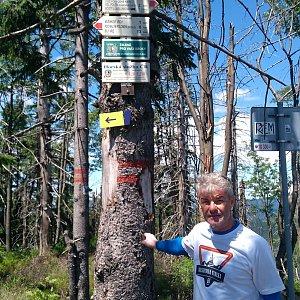 Jaroslav Macura na vrcholu Velký Polom (6.7.2021 13:04)