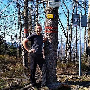 PeteBukař na vrcholu Velký Polom (22.4.2019 16:16)