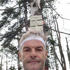 Jaroslav Macura na vrcholu Velký Polom (18.7.2021 17:50)