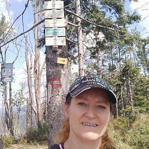 Ivana Urbánková na vrcholu Velký Polom (14.8.2021 13:01)
