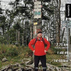 Lukáš Rambousek na vrcholu Velký Polom (29.8.2021 13:54)