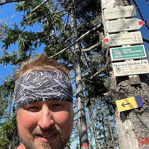 Igor Gluza na vrcholu Velký Polom (9.9.2021 12:00)