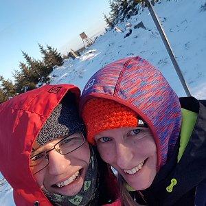 Michaela Karásková na vrcholu Jelení loučky (27.12.2020 14:55)