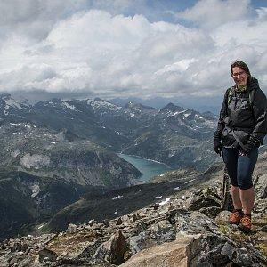 Jitka Procházková na vrcholu Großer Hafner (12.8.2019 14:01)
