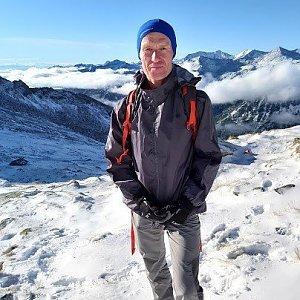 Pavel Rýdl na vrcholu Großer Hafner (27.9.2020 13:16)