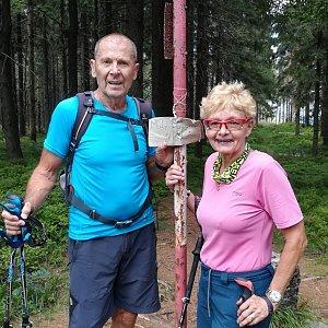 MUDr.Svatopluk Kunčar na vrcholu Malý Polom (9.8.2019 12:14)