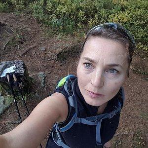 Marcela Kubíčková na vrcholu Malý Polom (19.10.2019 9:10)